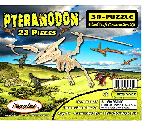 3D Wooden Pteranodon Small Puzzle - 1