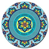 CounterArt Lazy Susan Glass Serving Plate, Agave Azul