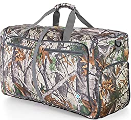Sports Duffle Bag for Gym Gear or travel - with shoes pocket - 23\'\' (Medium, Camo)