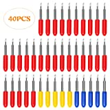 3 Types of 40Pcs Blades for Explore Air 2 Vinyl Cutting Machines - 30 45 60 Degree Tungsten Steel Roland Plotter Cutting Replacement Blades (Color: Set 3 - 40pcs)