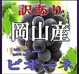 岡山産【訳ありピオーネ】【路地栽培】2K(4?6房入り)