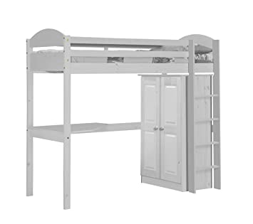 Design Vicenza Maximus High Sleeper Set 1 White and White