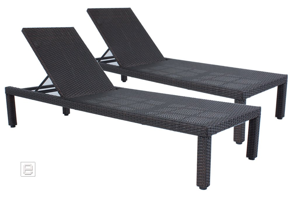 2er set sonnenliege gartenliege rattanoptik liegen gartenm bel liegest hle online bestellen. Black Bedroom Furniture Sets. Home Design Ideas