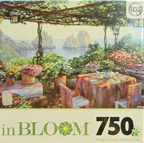 In Bloom 750 Piece Sure-lox Puzzle Table for Two Capri