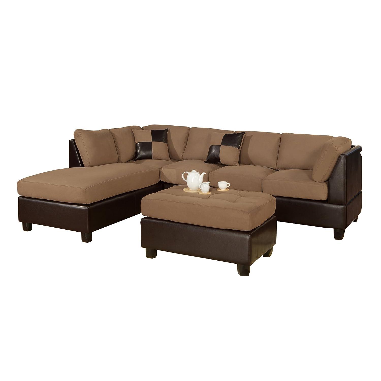 3 Piece Leather Sofa: My Furniture Gallery: Bobkona Hungtinton Microfiber/Faux