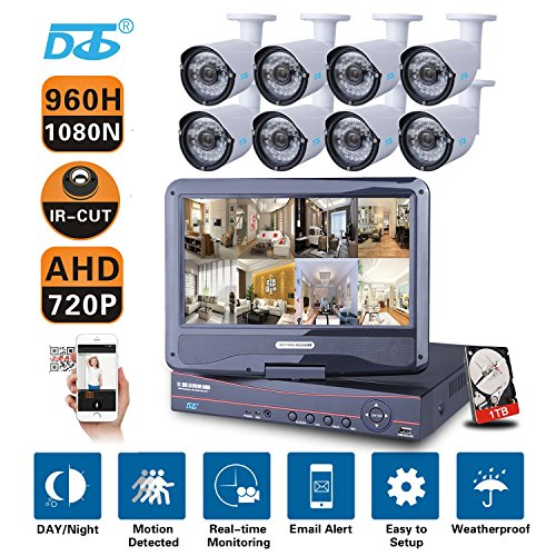 Discover Bargain DC 8CH 1080N AHD/HVR/NVR 3-in-1 960H DVR 1080P CCTV Security Camera System 1TB HDD ...