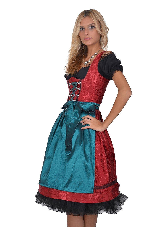 Dirndl Set Trachtenkleid 3tl., schwarz weiss online kaufen