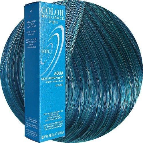 ION Audio Ion Color Brilliance Brights Semi Permanent Hair Color Aqua