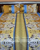 Famacart Double Bedsheets Printed Wedding Bedsheets Pillows