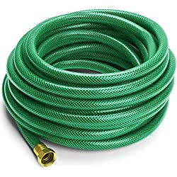 Ultra-Flexible Garden Hose, Crimp-resistant, 5/8 Inches by 50 Feet - by Utopia Home