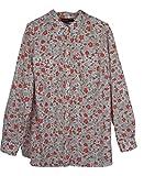 Jones New York Women's Plus Floral Print Buttondown Blouse