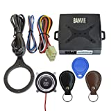 BANVIE Leather Key Auto Car Alarm Engine Push Button Start Stop RFID Lock Ignition Switch Keyless Entry System Anti-Theft (Color: Leather Key)