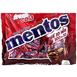Mentos Chewy Mints, Classic Fresh Cola Flavor, 10.5 Ounce (110 Pieces)