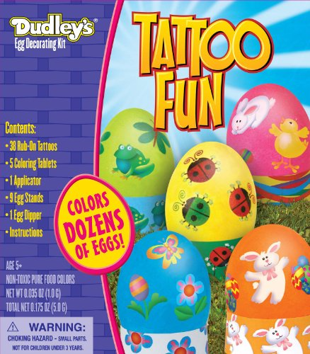 Tattoo Fun Egg Decorating Kit Party Accessory - 1