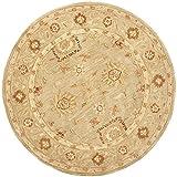 Safavieh Anatolia Collection AN556K Handmade Hand-Spun Wool Round Area Rug, 8-Feet, Sage and Sage