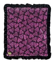 """Kivelli Baby Wild Heart Minky 30 X 36 """" Velvet Plush Couture Blanket"""