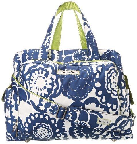 Ju-Ju-Be Be Prepared Diaper Bag with Tote Handles (Cobalt Blossoms) by Ju-Ju-Be