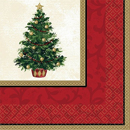 beverage napkins classic christmas tree