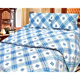 Cosmosgalaxy Cotton Double Bedsheet With Pillow Covers - Queen Size, Multicolor - B00SWKP5VY