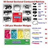 50 of Dental Sectional Contoured Matrices Matrix + 200 Wooden Wedges