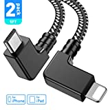 Obeka Compatible 1FT 90 Degree Micro USB to iOS Phone Tablet OTG Data Cable Right Angle Connector Cord DJI Spark, Mavic Pro, Platinum, Air, 2 Pro, Zoom Remote Controller Accessories (2 Pack) (Color: 2 Pack, Tamaño: 1 Feet)