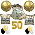 Happy 50th Anniversary Best Wishes Party Balloon Set