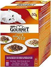 Purina Gourmet Mon Petit Selección de Carnes - Paquete de 6 x 50 gr - Total: 300 gr