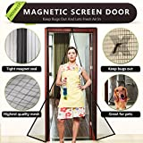 Magnetic Screen Door,Heavy Duty Mesh Screen & Full Frame Velcro-Keep Bugs out,Let Fresh Air In.Screen Door Mesh is Bulit Tough,Close Automaticlly.Fits Door Openings Up to 34