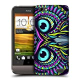 Head Case Designs Owl Aztec Animal Faces Protective Snap-on Hard Back Case Cover for HTC One V