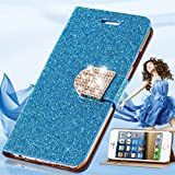 2016 Fashion Luxury Bling Glitter Wallet Flip Leather Case Cover For IPhone 6 Plus Back Cover For IPhone 6Plus...