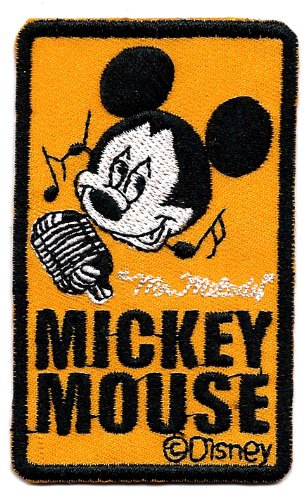 Mickey Mouse - ' Mr Melody ' Singer With Microphone Embroidered Iron On / Sew On Patch - Disney