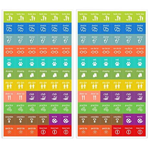 Kids Calendar With Activity Stickers : Calendar activity stickers cute designs homework