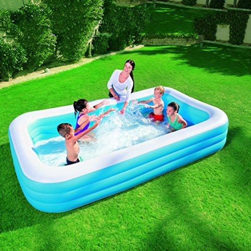 Bestway 120 x 72 x 22 inches deluxe family pool at shop for Quick up pool 120 hoch