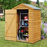 4x3 Overlap Apex Wooden Shed