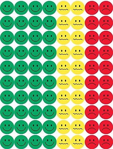 Hygloss 41225 15-Sheet Behavior Stickers, 1/2-Inch, Green, Yellow and Red, 1200-Pack