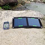 (Cyber Monday) ALLPOWERS™ 7W Solar Foldable Panel Charger External Charger Pack USB Portable Backup Power Bank for iPhone 6 5s 5c 5 4s 4, Samsung Galaxy S5 S4 S3, Blackberry, OPPO, LG, PDA, GPS Units, Digital Camera, Video Camera, PSP Video Games, Bluetoo