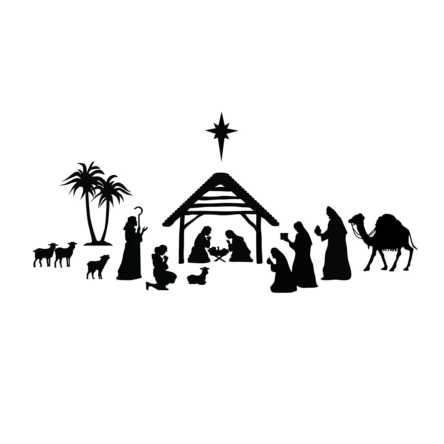 Nativity Scene Silhouette Christmas Nativity Silhouette