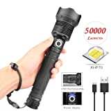 Rundaotong-US LED Torch, USB Rechargeable Telescopic Zoom Torch, for Work, Mountain Climbing, Fishing, Camping, Outdoor Activities, etc. (Without Battery) (Color: A, Tamaño: A)