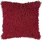 Rizzy Home T-3727 Decorative Pillows, 18 by 18-Inch, Red /Red, Set of 2