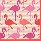 Entertaining with Caspari Flamingo Strut, Cocktail Napkin, Pack of 20