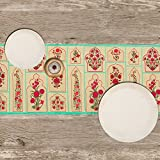 Floral Union-Poly Velvet-13x72inch-Premium-Table Runner