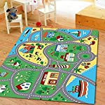 Furnish my Place City Street Map Children Learning Carpet/Kids Rugs Boy Girl Nursery/Bedroom/Playroom/Classrooms Play Mat, Rectangle, 33