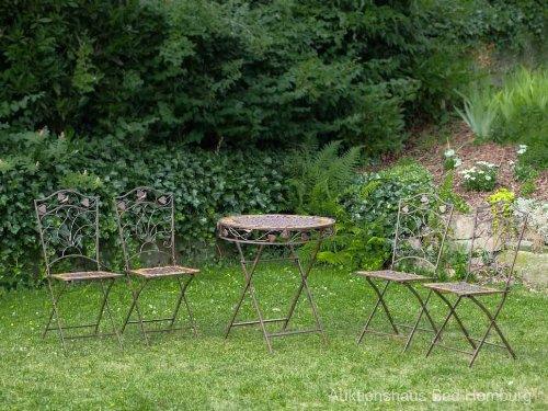 gartentisch und 4 st hle eisen schmiedeeisen antik stil. Black Bedroom Furniture Sets. Home Design Ideas