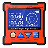 Digital Protractor DXL360S GYRO + GRAVITY 2 in 1 Digital LCD Protractor Inclinometer Dual Axis Level Box 0.01°resolution (Color: Red, Tamaño: Small)