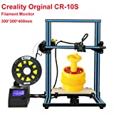 Creality CR-10S 3D Printer Large Printing Size 300x300x400mm 1.75mm 0.4mm Nozzle DIY Self-Assembly Desktop 3D Printer Kits Filament Monitor and Dual Z Axis (Color: Blue, Tamaño: 300x300x400mm)