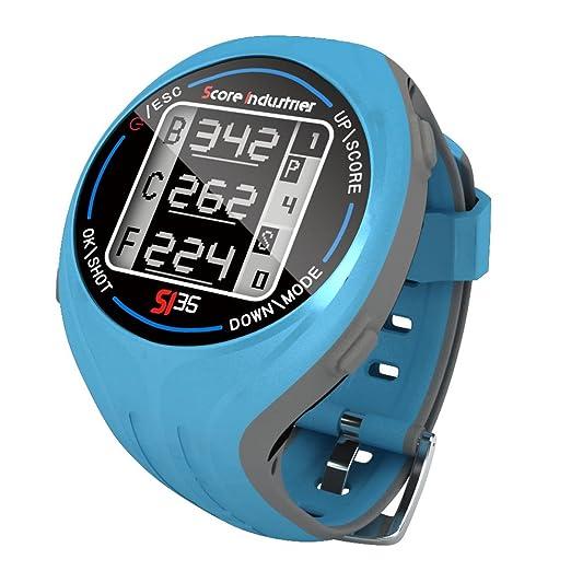 Score Industries 55554 SI 35 Montre GPS de golf Bleu