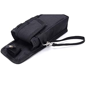Tactical Tool Belt Pouch Holster, Multi-Purpose Tool Holder, Practical Carrying Case Belt Loop Pouch Men's Waist Pocket Trauma Shears, Bandage Scissors, Medical Supplies, Penlight, Nurse Accessories (Color: Black, Tamaño: 3.75Lx1.5WX7.75H)