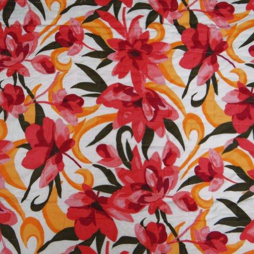 Queen Size Quilt Blanco Diseño floral indio Gudri Inicio Dacor Art 118
