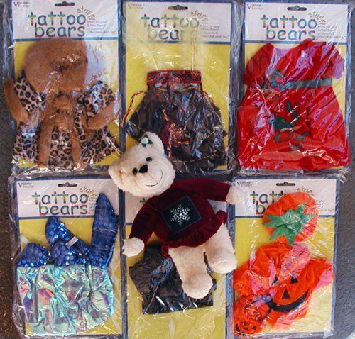 Dress Up Teddy Bear with 6 Outfits - Buy Dress Up Teddy Bear with 6 Outfits - Purchase Dress Up Teddy Bear with 6 Outfits (Tattoo Bears, Toys & Games,Categories,Dolls,Playsets,Fashion Doll Playsets)