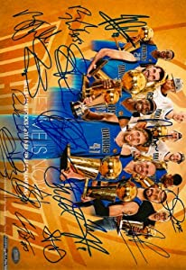 2010 2011 Dallas Mavericks NBA Champions Team Autographed Photo by photo 8x12